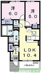 ミニョンさくら[102号室]の間取り