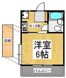 コーポA[2階]の間取り