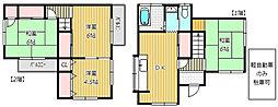[一戸建] 千葉県船橋市薬円台3丁目 の賃貸【/】の間取り