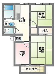 大阪府門真市下島町の賃貸アパートの間取り