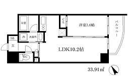 大阪府大阪市中央区島町2丁目の賃貸マンションの間取り