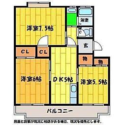 メナーハイツ藍[305号室]の間取り