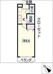 コーポTOMITA[1階]の間取り