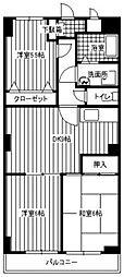 ロゼール弐番館[102号室]の間取り
