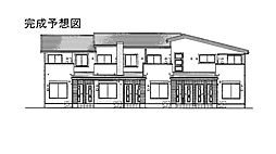 愛媛県松山市居相4丁目の賃貸アパートの外観