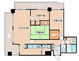 兵庫県神戸市東灘区向洋町中1丁目の賃貸マンションの間取り