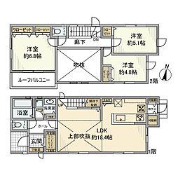 [一戸建] 神奈川県藤沢市本鵠沼1丁目 の賃貸【/】の間取り