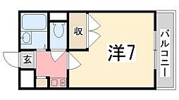 レオパレスフレーズ壱番館[203号室]の間取り