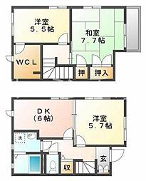 [テラスハウス] 兵庫県加西市段下町 の賃貸【兵庫県 / 加西市】の間取り