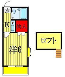 千葉県習志野市谷津7丁目の賃貸アパートの間取り