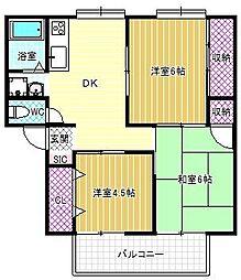 PATIO-N A[2階]の間取り