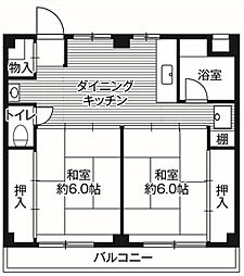神奈川県座間市さがみ野1丁目の賃貸マンションの間取り
