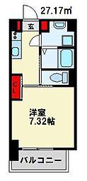 仮) 折尾4丁目マンション 11階1Kの間取り