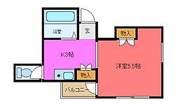 大阪府東大阪市菱江5丁目の賃貸マンションの間取り
