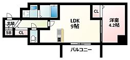 YOU S七番館 11階1LDKの間取り