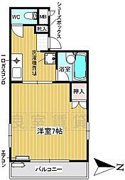 愛知県名古屋市昭和区阿由知通2丁目の賃貸アパートの間取り