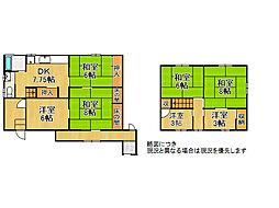 京都市西京区御陵北山町 中古一戸建て 7DKの間取り