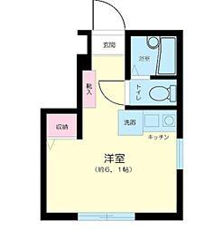 東京都新宿区西落合4丁目の賃貸アパートの間取り