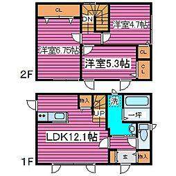 [一戸建] 北海道札幌市北区新川四条9丁目 の賃貸【/】の間取り