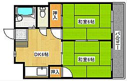 シャトレ松尾[2階]の間取り