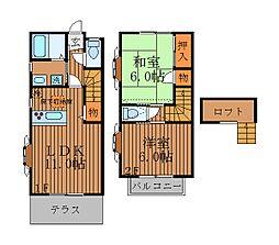 [テラスハウス] 東京都杉並区上井草2丁目 の賃貸【/】の間取り