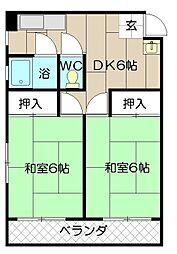 コーポ角田枝光A棟[3階]の間取り