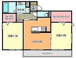 D−room湯里IV[101号室]の間取り