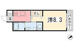 エクシード[3階]の間取り