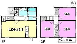 [一戸建] 愛媛県松山市吉藤1丁目 の賃貸【/】の間取り