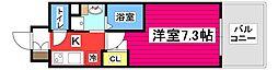 レジディア仙台上杉 12階1Kの間取り