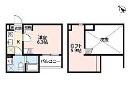 ブロッサムイマヅ[1階]の間取り