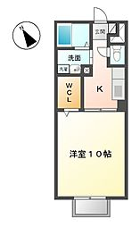 モナリエーレII B[2階]の間取り
