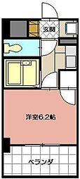 ライオンズマンション三萩野駅前[504号室]の間取り