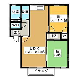 ジュネス21[2階]の間取り