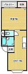 おくひらマンション[502号室]の間取り