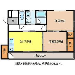 ディアスさくら2[2階]の間取り