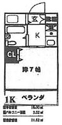 大阪府大阪市住吉区清水丘1丁目の賃貸マンションの間取り