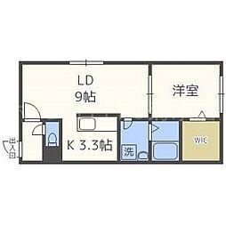 北海道札幌市白石区本通3丁目北の賃貸マンションの間取り