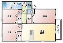 コーポ日栄 A棟[1階]の間取り