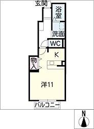 エピナール[1階]の間取り