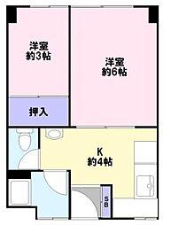 永沢マンション[4階]の間取り