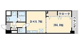 大阪府泉佐野市笠松2丁目の賃貸マンションの間取り