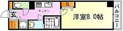 JR芸備線 矢賀駅 徒歩13分の賃貸マンション 6階1Kの間取り