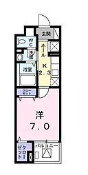 シャンブル湘南III[1階]の間取り