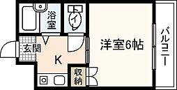 広島県広島市佐伯区五日市中央4丁目の賃貸マンションの間取り