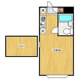 セゾンフローラA[2階]の間取り