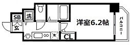 Osaka Metro谷町線 谷町四丁目駅 徒歩4分の賃貸マンション 4階1Kの間取り