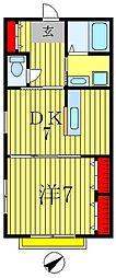 メゾンドサクラ[1階]の間取り