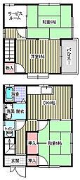 [一戸建] 広島県福山市川口町3丁目 の賃貸【/】の間取り