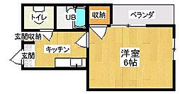 第5サンピア[3階]の間取り